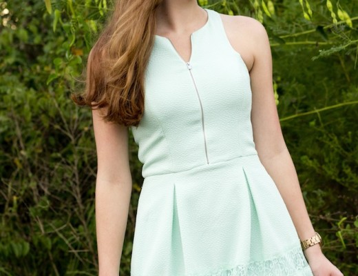mint dress from express