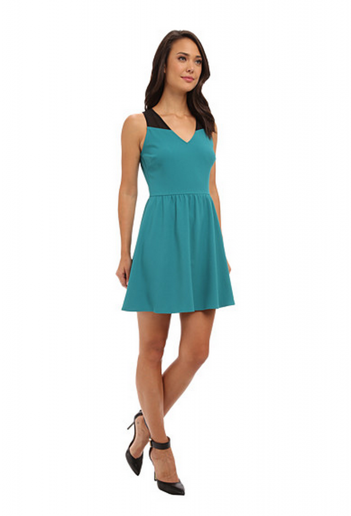 teal professional dress