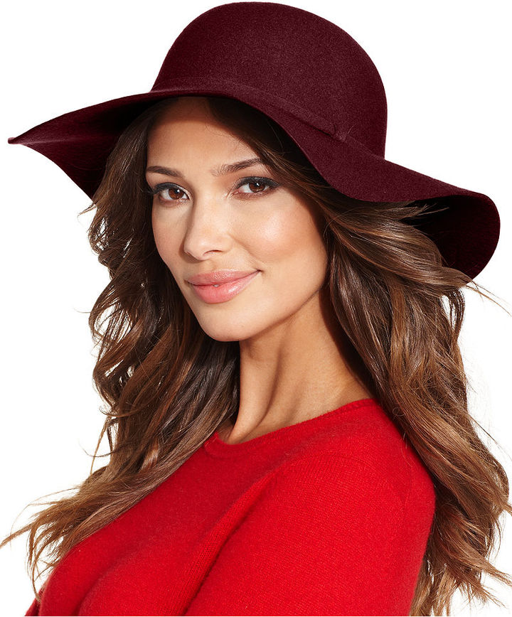 burgundy womens floppy hat