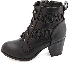 black boots with detailed accents