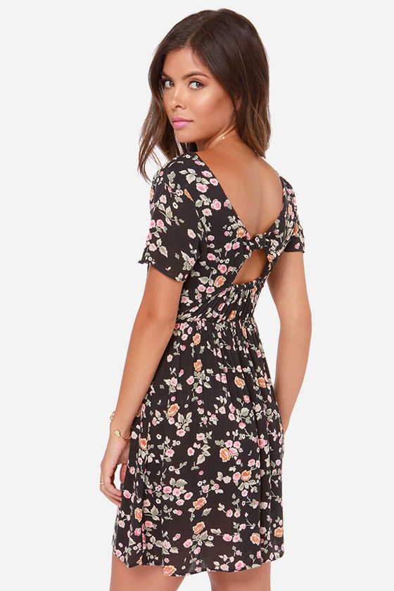 billabong open back floral dress