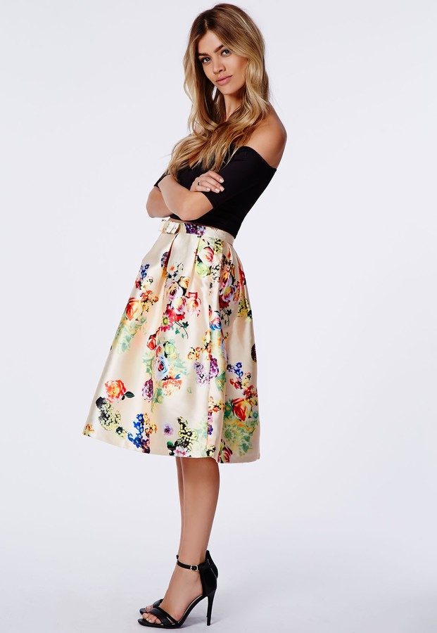 Long Floral Printed Skirt - Where Did You Get It