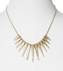 gold geometric necklace express