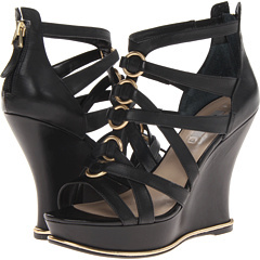 guess black and gold wedge