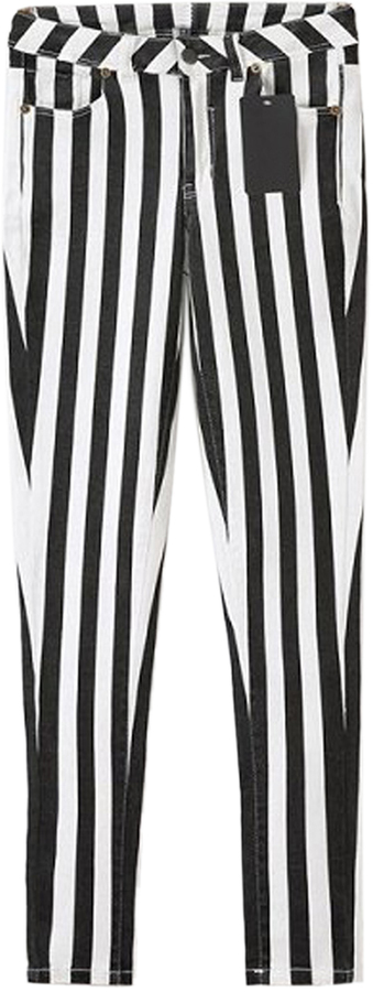where to buy striped black and white pants