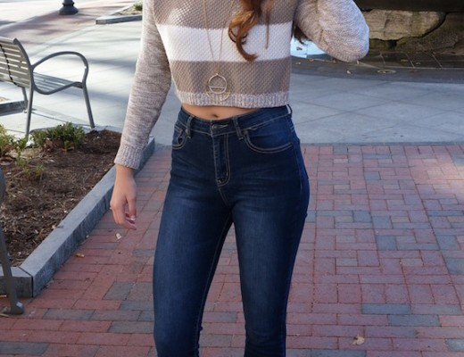 Stripped Cropped Sweater