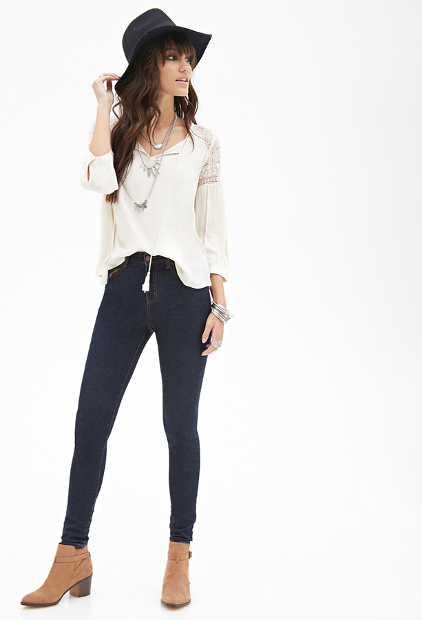 high rise blue jeans from forever 21