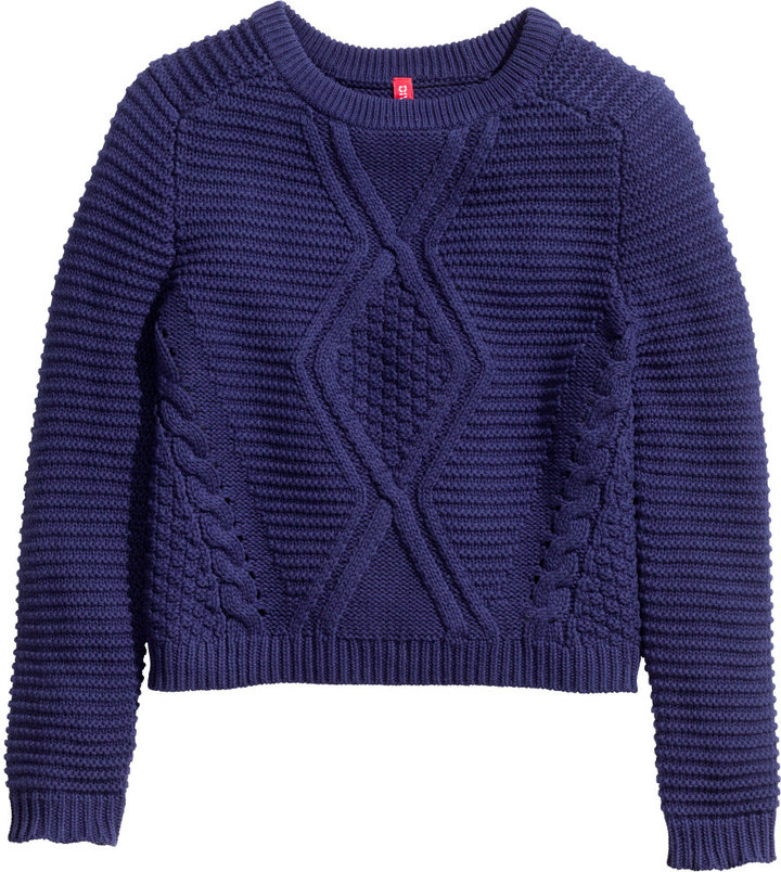 Blue Textured Sweater