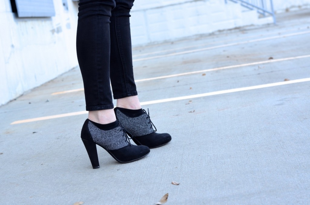 gray-and-black-lace-heels