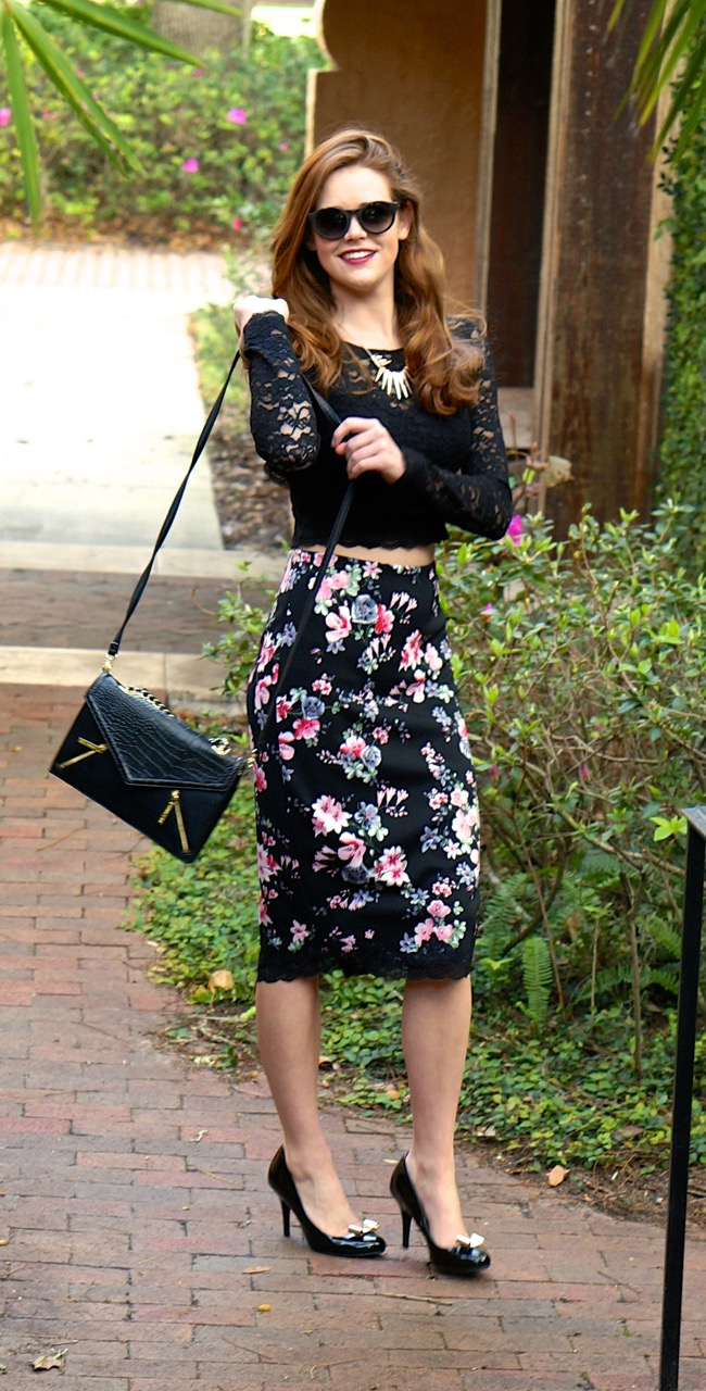 A Line Midi Floral Skirt From Express Where Did You Get It