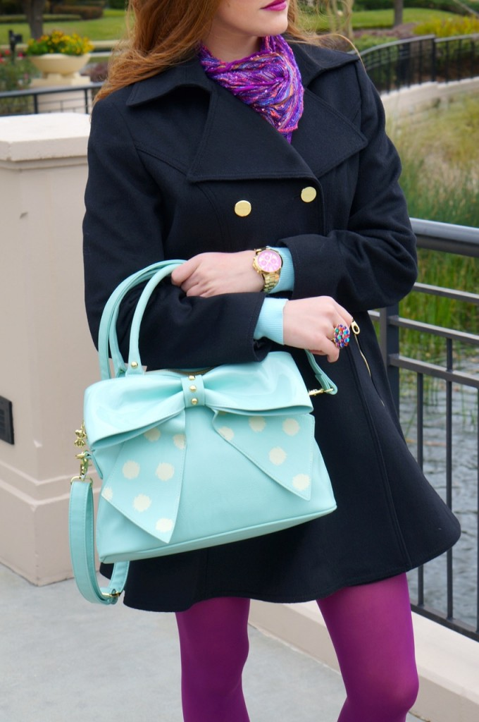 betsy-johnson-teal-polka-dot-purse
