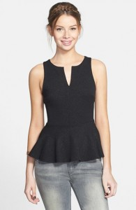 black-peplum-sleeveless