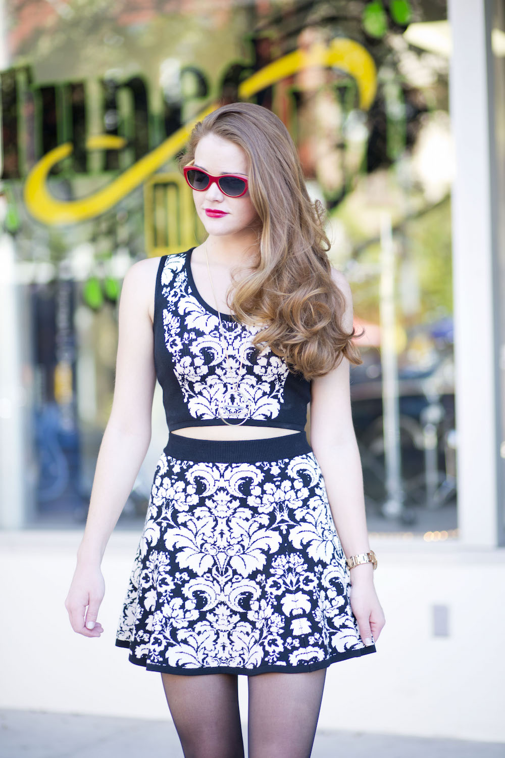 knit-crop-top-and-skirt- coordinate
